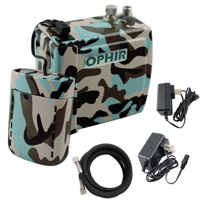 OPHIR Pro 0.3mm Compressor Airbrush Kit with Camouflage ...
