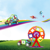 50pcs Kids Toys Educational Magnetic Blocks Designer 3D DIY Models Construction Creative Enlighten Building Toy Gifts