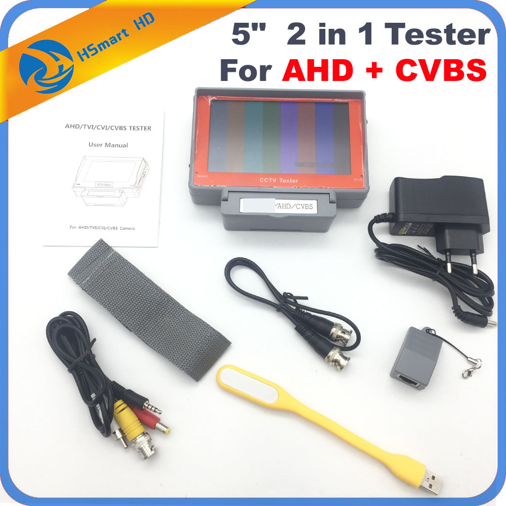 New 5 Inch HD AHD Camera Tester CCTV Tester Monitor AHD 1080P 720P AHD Analog Camera Testing UTP Cable Test 5V/2A, 12V/1A Output sannce ahd cctv tester monitor 4 3 inch hd 1080p analog camera ptz utp cable tester 12v1a output for home security