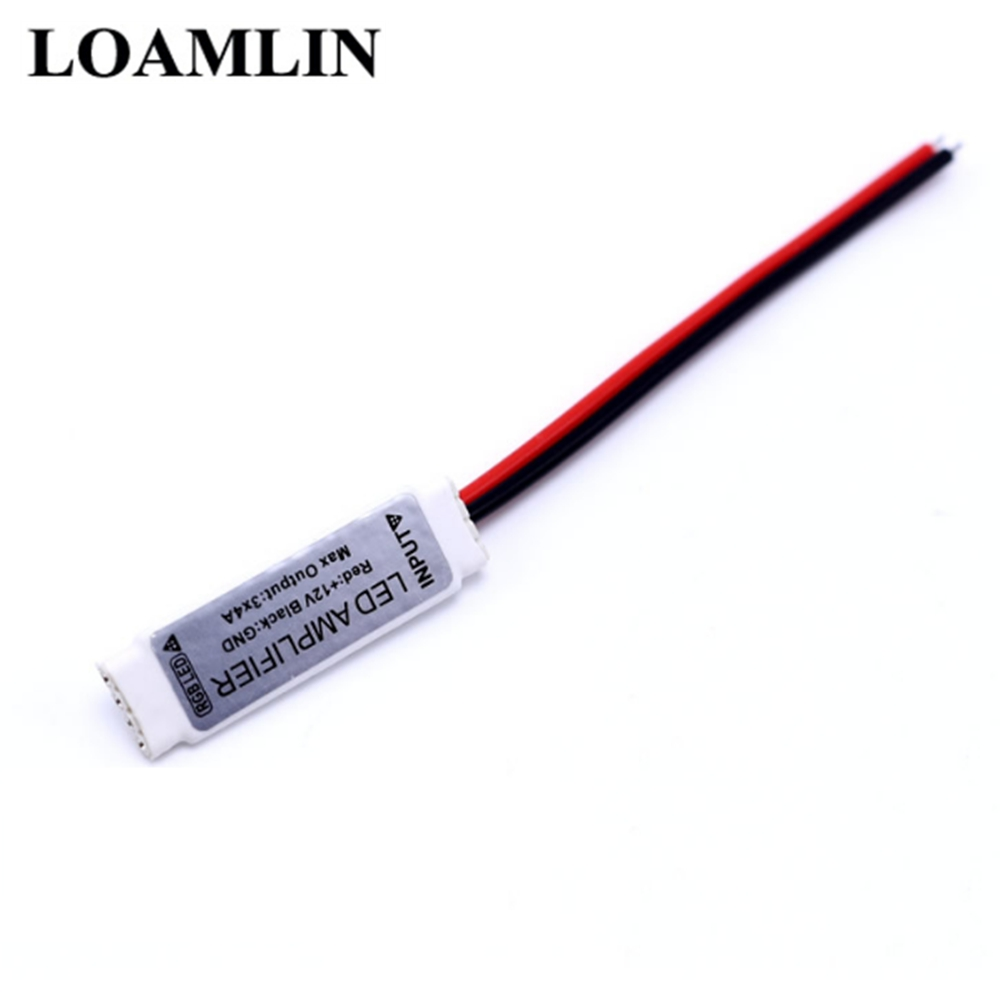 Mini LED Amplifier Controller DC12V For 5050 3528 Rgb Strip Optical Signal Amplifier 12V 3 * 4A 6A 12A 144W LED Strip