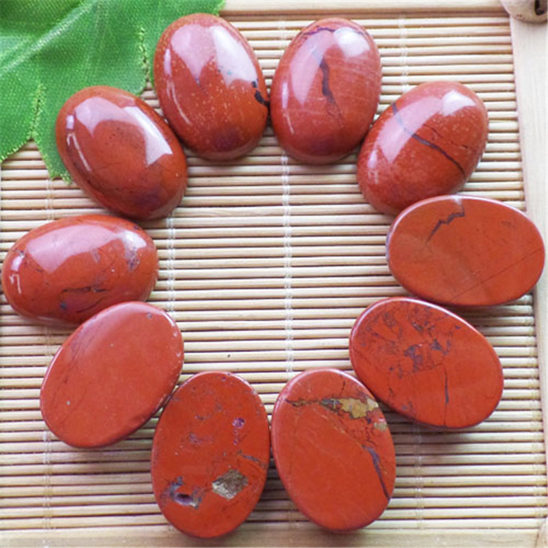 (10 pieces/lot) Wholesale Natural Red Jaspers Oval CAB CABOCHON 25x18x8mm Free Shipping Fashion Jewelry ZY3410