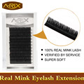 Mixed length 1pc/lot Rave reviews VERIFIED 100% Authentic mink fur eyelash extensions softest natural individual eyelash strip