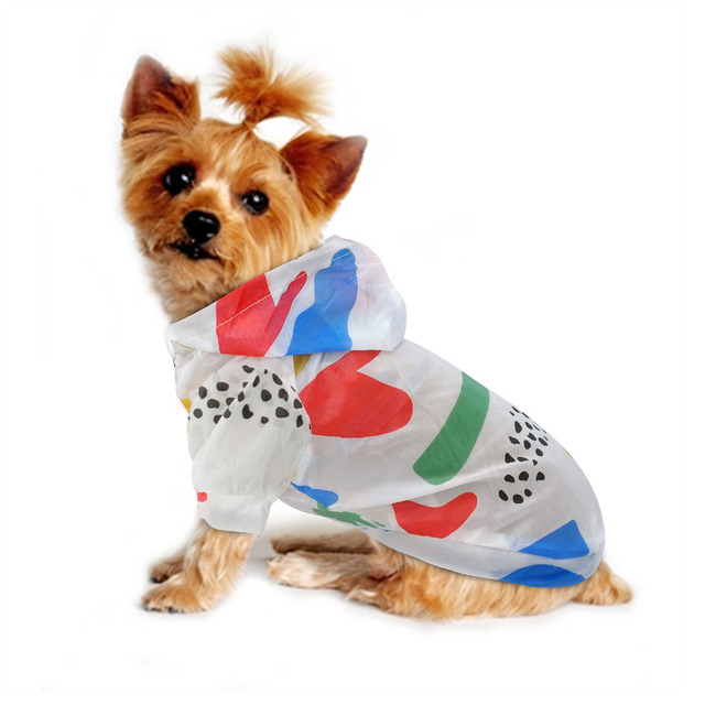 Dog Raincoat Sun-proof Clothing Summer Sun Protection Hoodie Small Dog Clothes Print Poncho For Small Medium Pets Puppy Cat 5