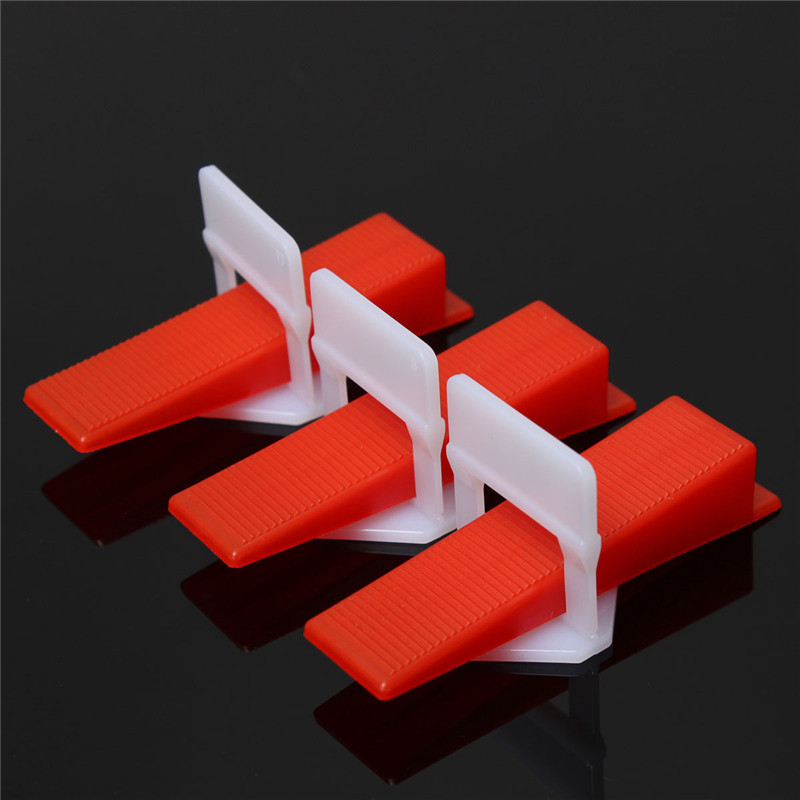 200pcs/100set Tile Leveling System Wedges and Clips Spacer Plastic Tiling Tools Prevent movement during installation of tiles thyssen parts leveling sensor yg 39g1k door zone switch leveling photoelectric sensors