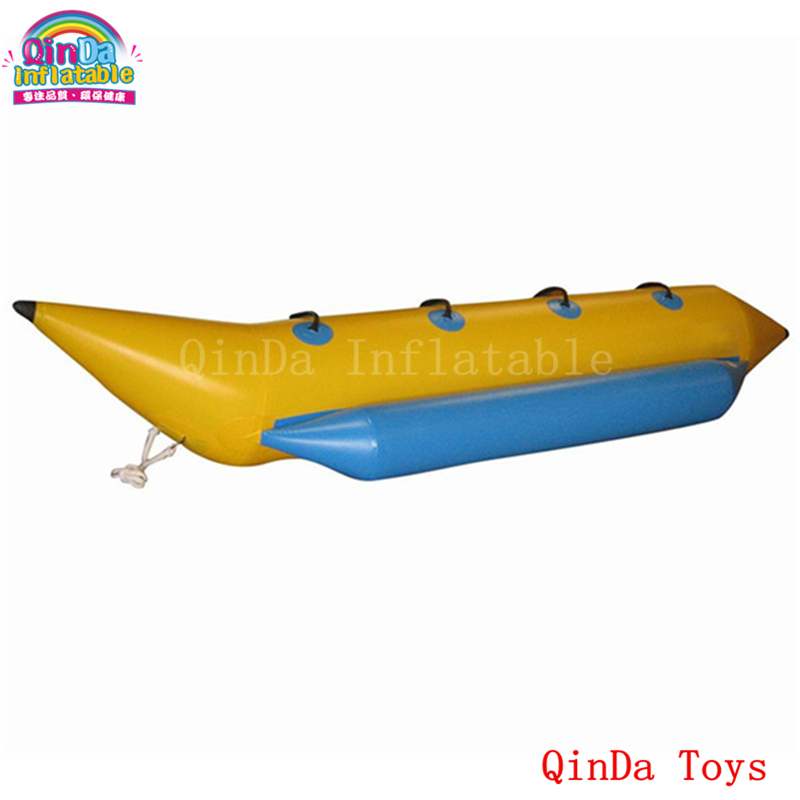 Free air pump inflatable water banana boat,inflatable water games 4 persons flying banana boat flying banana boat wave surfing flying mantaray inflatable boat inflatable flying toward water sport toy