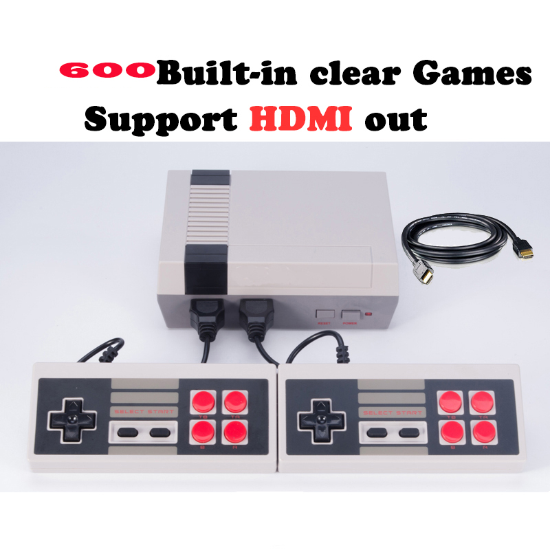 HDMI Output Retro Classic handheld game player Family TV video game console Childhood Built-in 600 Games mini Console 10pcs