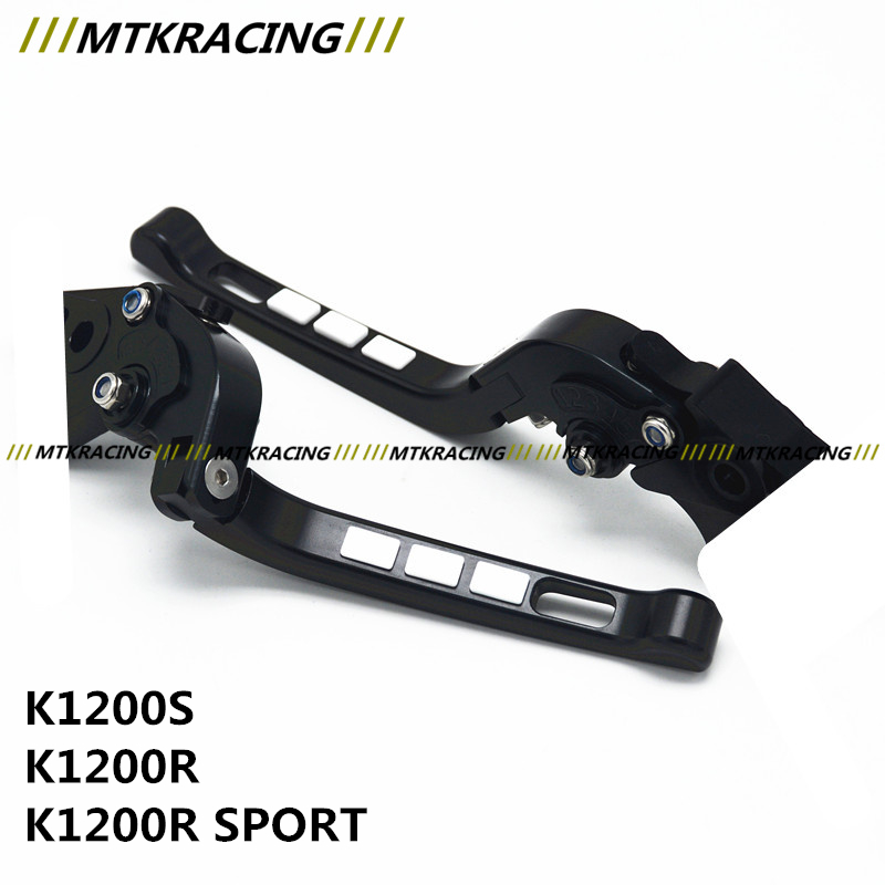Free delivery Fit BMW K1200S/K1200R/K1200R SPORT Motorcycle Modified CNC Non-slip Handlebar single-Folding Brakes Clutch Levers free delivery fit moto guzzi breva 1100 1200 sport motorcyclemodified cnc non slip handlebar single folding brakes clutch levers