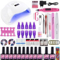 54W UV LED Lamp Nail Dryer Manicure Machine Electric Nail Drill Kit Nail Gel Polish Set For Gel Varnish 8ml UV Gel Polish Set