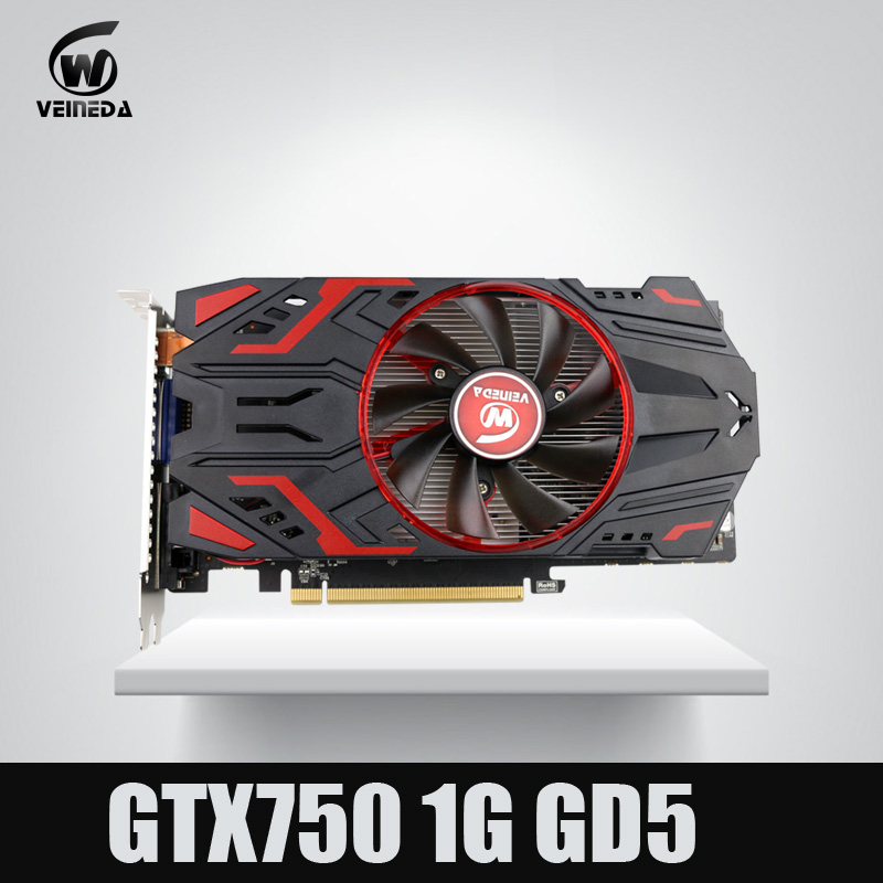 Veineda Video Card 100% Original GPU GTX750 1GB GDDR5 Graphic card Instantkill GTX650Ti ,HD6850 ,R7 350 For nVIDIA Geforce Games original genuine hd 8490m hd8490m 1gb 1024mb graphic card for dell hd8490 display video card gpu replacement tested working