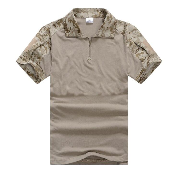 Refire gear летняя камуфляжная армейская боевая рубашка мужская Военная тактическая рубашка поло США страйкбольная камуфляжная рубашка поло с коротким рукавом - Цвет: Desert Camo