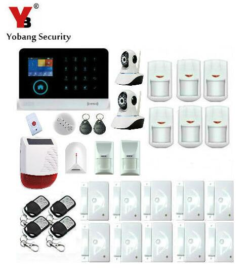 Yobang Security-APP Wireless WIFI House Anti-theft Alarm System Panic GSM Alarmes With Network Camera Outdoor Strobe Siren Alarm yobang security app control anti theft wifi alarm system gsm alarma wireless network camera monitoring outdoor solar siren alarm