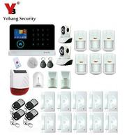 Yobang Security APP Wireless WIFI House Anti theft Alarm System Panic GSM Alarmes With Network Camera Outdoor Strobe Siren Alarm
