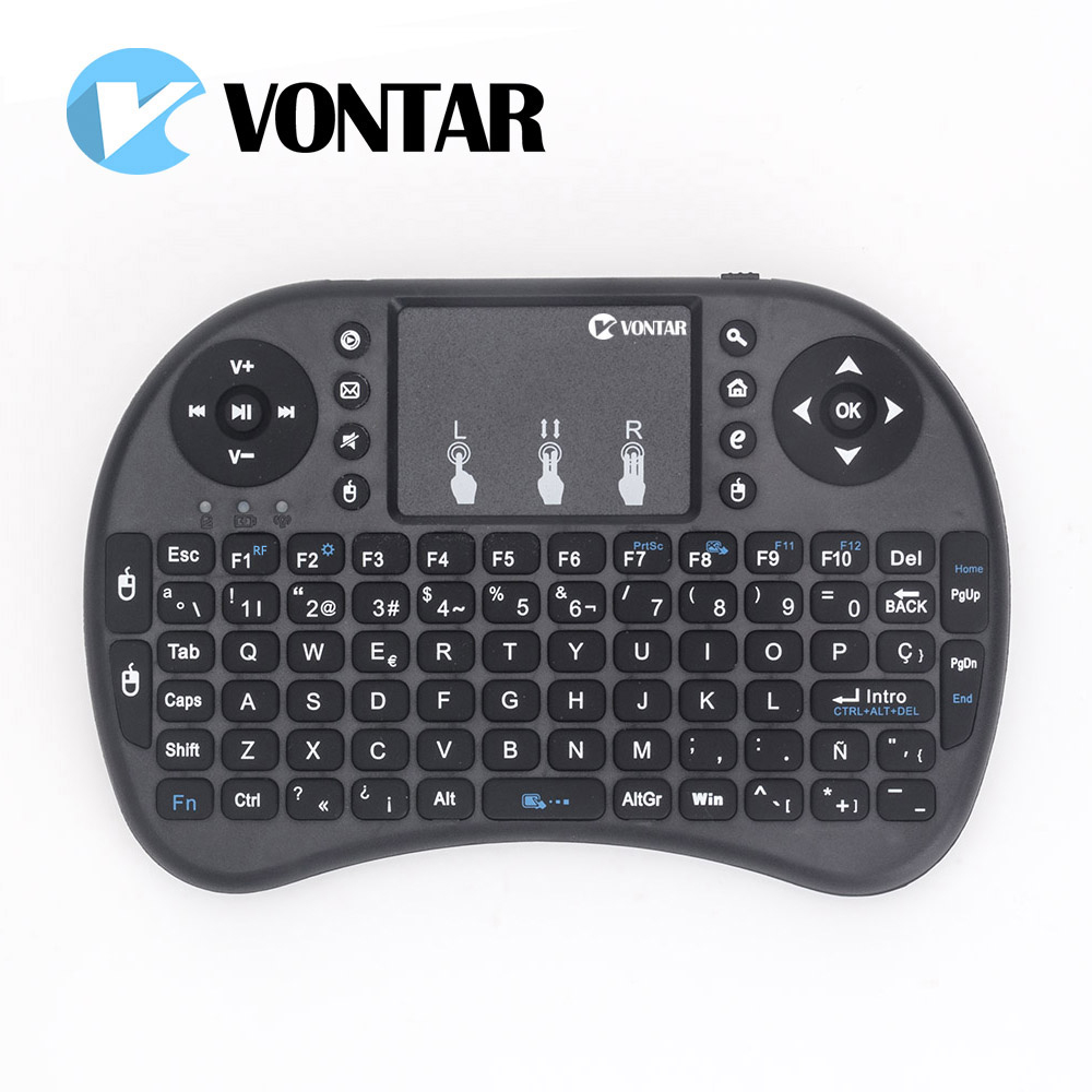 Mini i8 Keyboard Russian English Hebrew Spanish Version I8 Keyboard Remote Air Mouse Touchpad Keyboard For Android TV BOX PC 2 4ghz c120 fly air mouse russian english rechargeable wireless keyboard gyroscope remote controller for gaming smart tv box pc