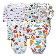 5 pcs/set Tender Babies newborn bodysuit baby babies bebes clothes long sleeve cotton printing infant clothing 0-24 Months все цены