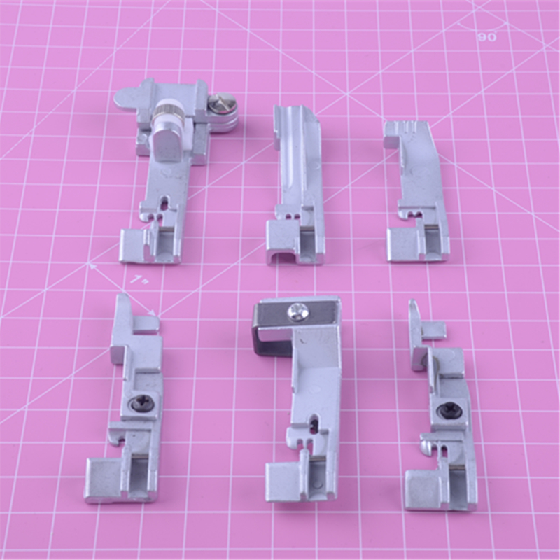 For 14SH644 14SH754 Presser Foot Home Sewing Machine Overlock 6pcs Durable New