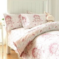 Элегантный винтажный Красный Белый цветок beding наборы, две полный дети Европейский дизайн постельное белье простыней наволочка пододеяльни