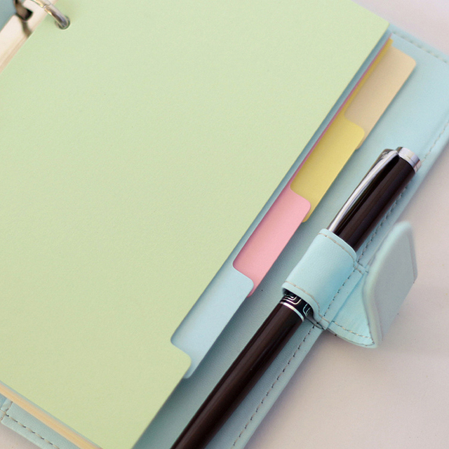 New A7 A6 A5 index page Filler papers Notebook color paper 6 holes 5 sheets/1 set Loose-leaf for the core office school supplies