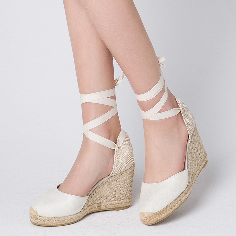 Color Bandage Slope Womens Shoes Crossing Bandage Sandals Woman Leisure Womens SandalsColor Bandage Slope Womens Shoes Crossing Bandage Sandals Woman Leisure Womens Sandals