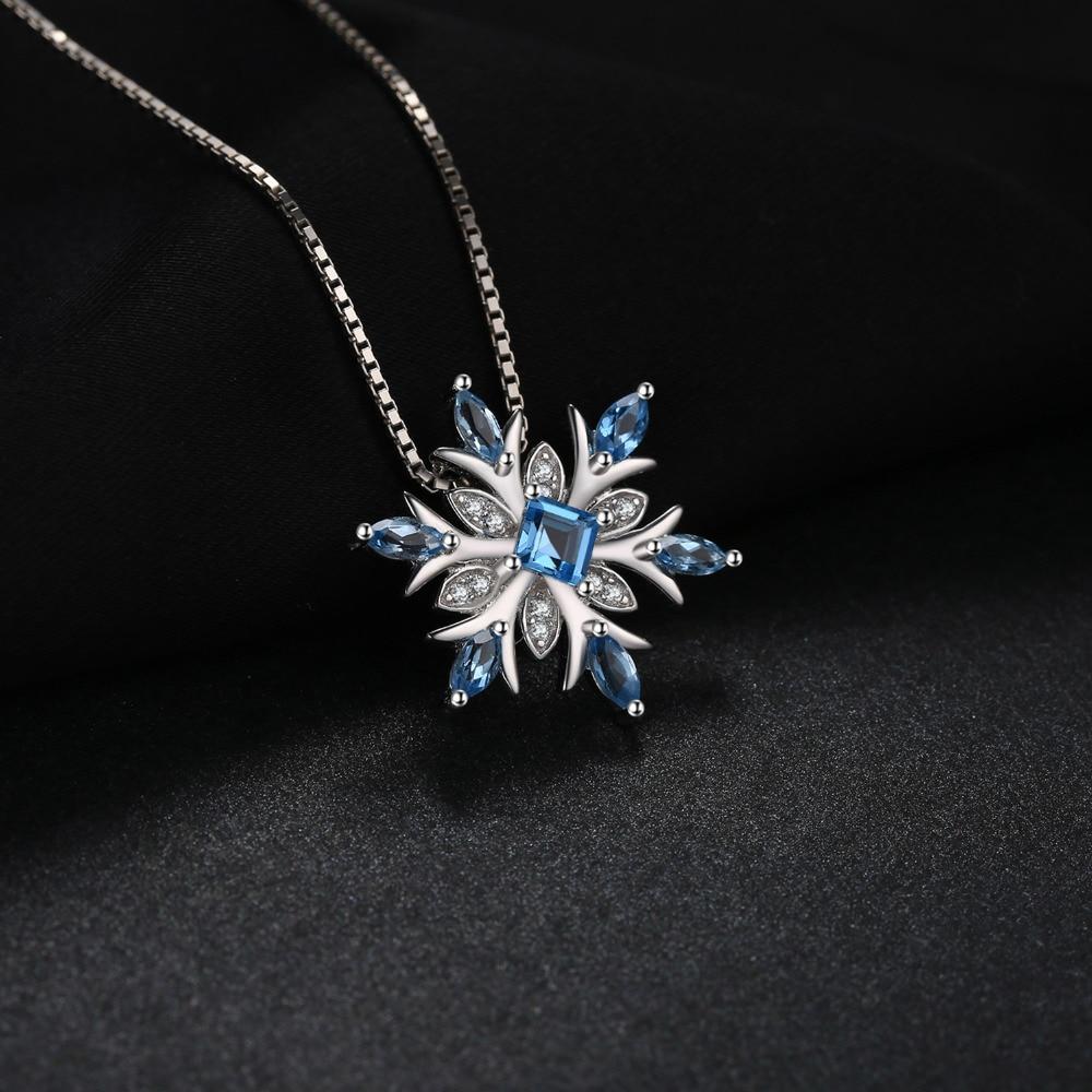 Jewelrypalace snowflake swis asli biru topaz padat 925 sterling - Perhiasan bagus - Foto 2