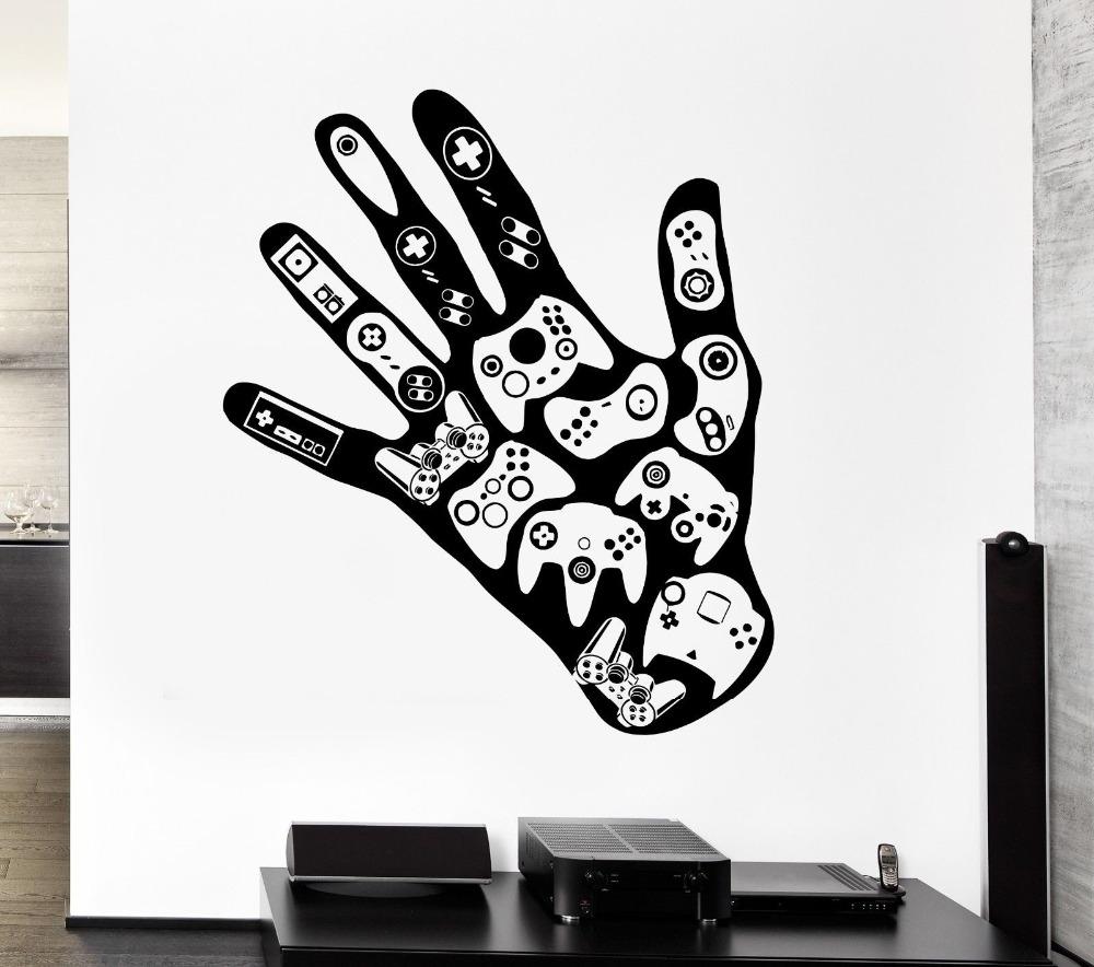 gamer mano extrable tatuajes de pared de vdeo juego de sala de juegos para nios sala