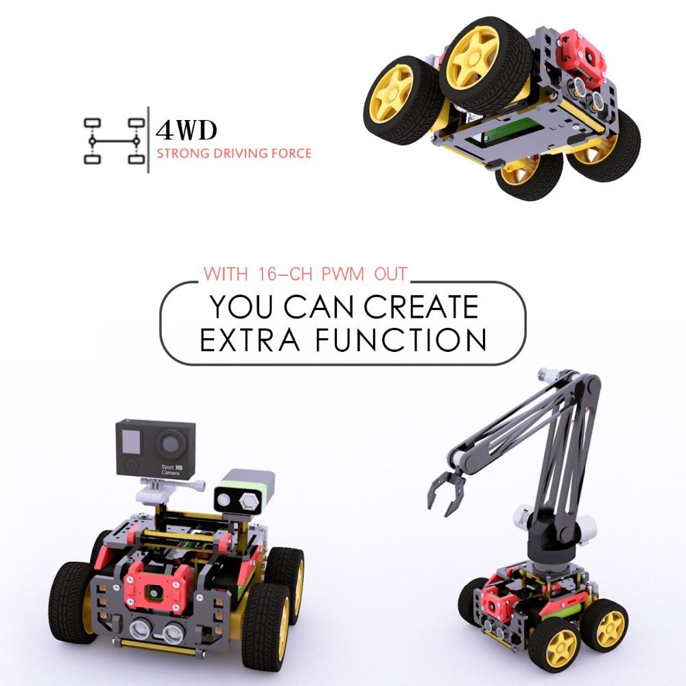 Adeept AWR 4WD WiFi Smart Robot Car Kit for Raspberry Pi 3 Model B ...