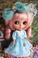 Handmade Blythe Doll Outfit Evening Dress Pullip Dress Azone Dress Aqua