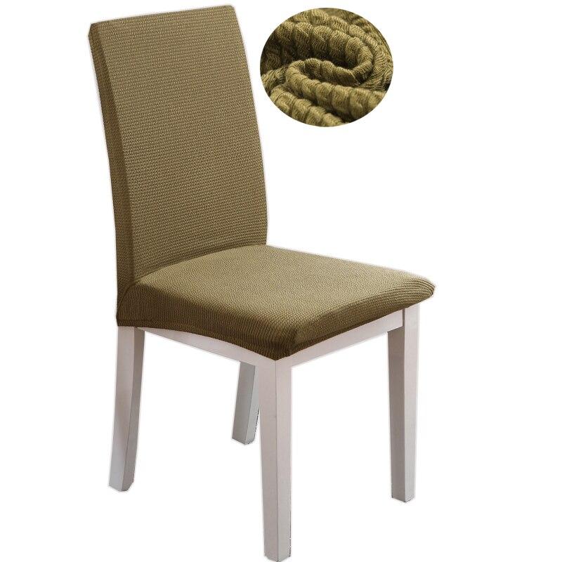 Svetanya strech Fundas para sillas comedor color sólido grueso ...