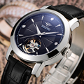 Швейцарские часы AI wave  2017 новые автоматические механические часы  мужские водонепроницаемые часы с кожаным ремешком  3ATM