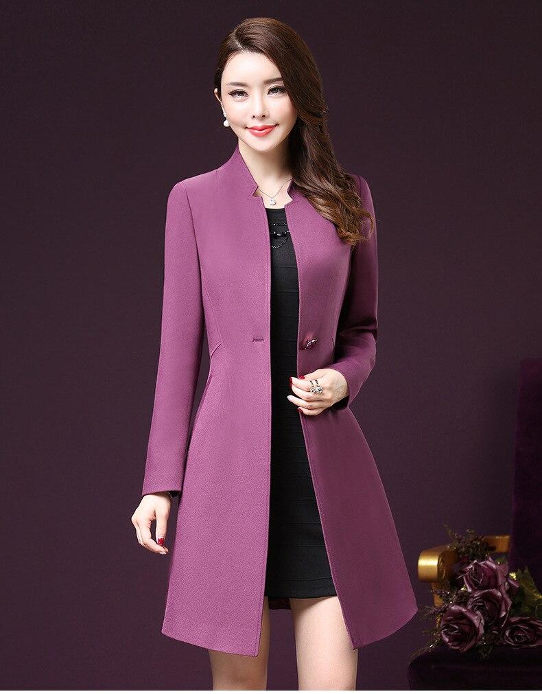 Plus Size 5XL   Trench   Coat For Women New Spring Autumn Casaco Feminino Long Overcoat Windbreaker Elegant Korean   Trench   Clothes