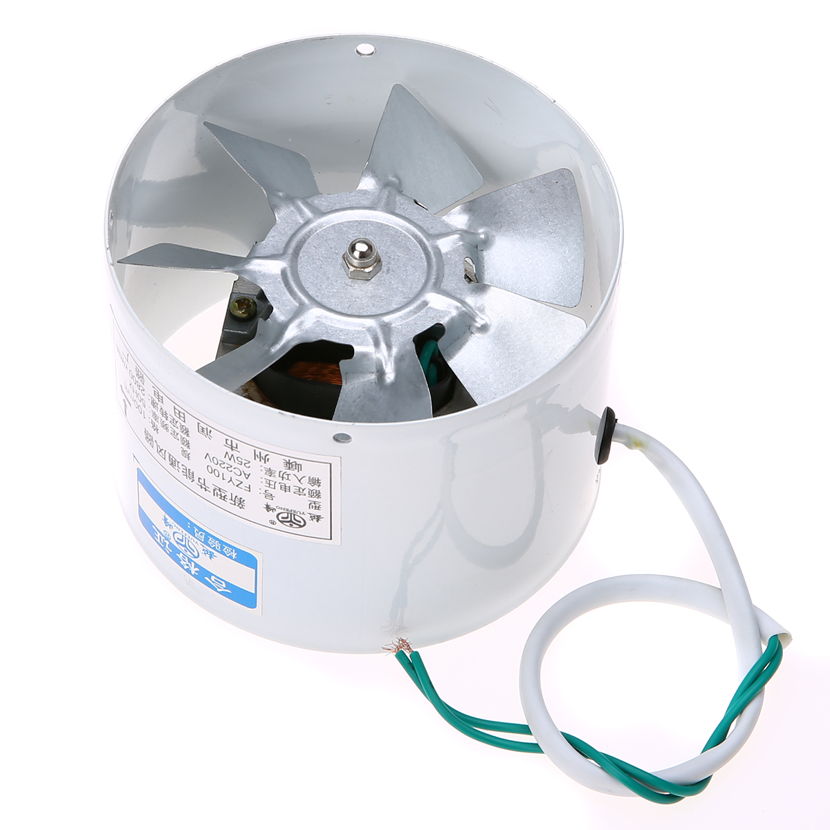 MAYITR 4'' Inline Ducting Vent Fan 2800R/Min Exhaust Blower Home Air Filter Vent  Fans 220V 25W High Speed Quiet small current motor protector for small home appliances like air dryer dehumidifier fan and exhaust fan
