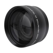 2X 58mm Telephoto Lens High Definition Camera Telephoto Lens Optics Teleconverter For Cameras Accessories