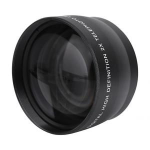 Image 1 - 2X 58mm Telephoto Lens High Definition Camera Telephoto Lens Optics Teleconverter For Cameras Accessories