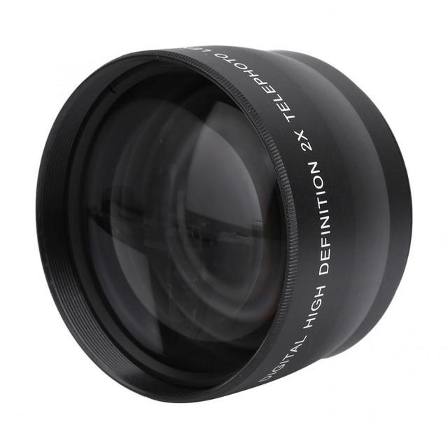 2X 58mm Telephoto Lens High Definition Camera Telephoto Lens Optics Teleconverter For Cameras Accessories