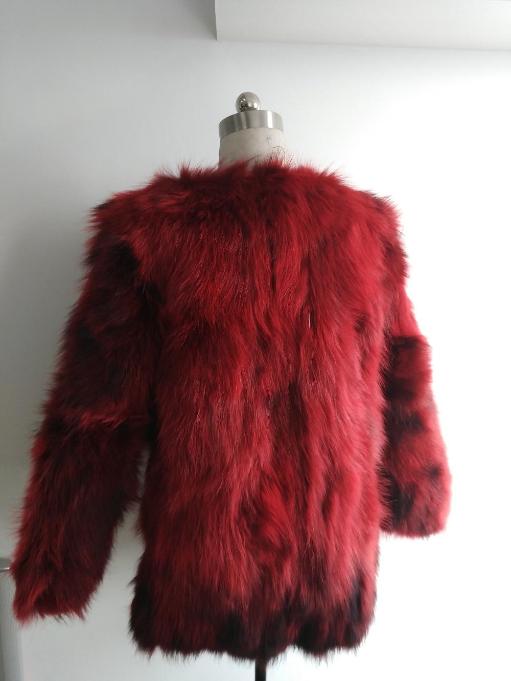 Long Femmes red Renard Fourrure Veste Manteau Raton Réel rose 2018 Fp725 black De Mode Laveur Navy 100 Arrivée Vrai Nouvelle wxPRPq7U