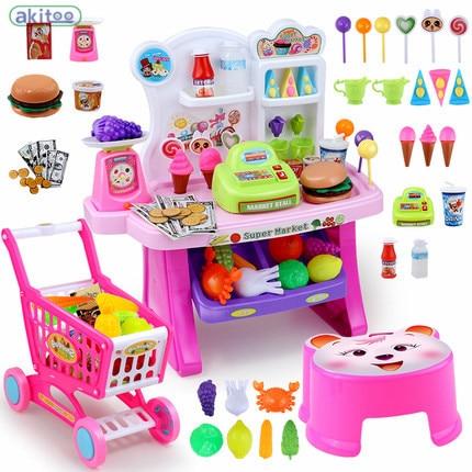 New Arrival 18 kinds Children play Cooking Utensils Tableware Kitchen set Miniature Food Toys Children Miniature