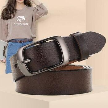 ¡Novedad! Cinturón de piel auténtica dinitriton para mujer, cinturón ajustable informal para mujer, marca de alta calidad