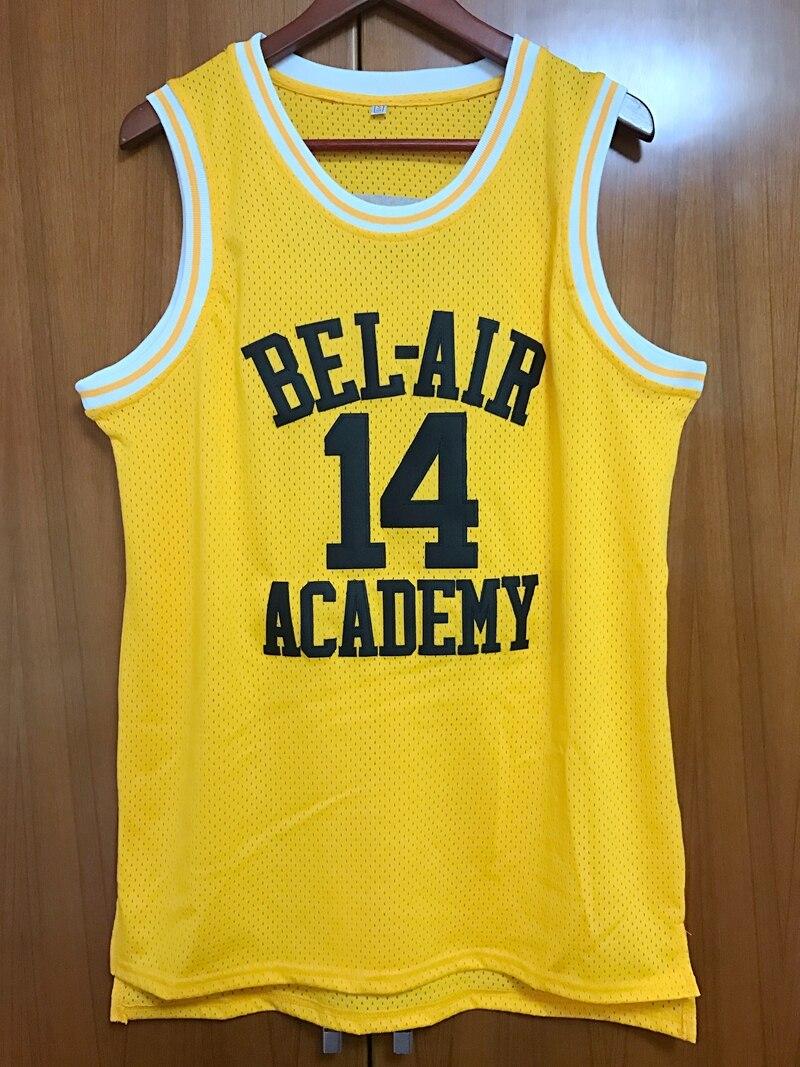Prix pour Will Smith #14 Le Prince De Bel-Air de Basket-Ball Jersey Tous piqué Jaune