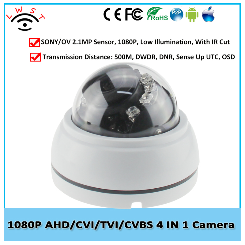 Varifocal Lens High Definition 2MP 1080P 4 in 1 AHD Camera Indoor Dome Surveillance Camera IR 20Meters Sony/OV CCTV Camera AHD 4 in 1 ir high speed dome camera ahd tvi cvi cvbs 1080p output ir night vision 150m ptz dome camera with wiper