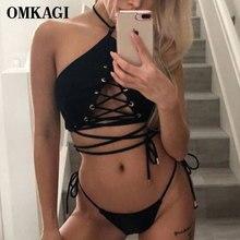 OMKAGI Brand Swimsuit Swimwear Women Micro Bikinis Set Swimming Suit For Women Bathing Suit Beachwear Sexy Push Up Bikini 2019