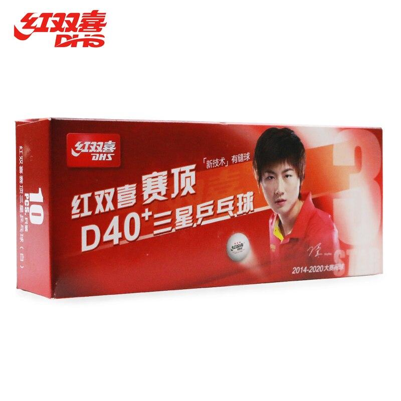 20 Balles De DHS 3-Star D40 + (Ding Ning) Tennis De Table Boules Nouveau Matériel En Plastique Poly Ping-Pong Balles