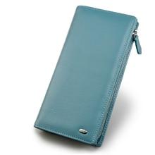Beth Cat Wallet Women Genuine Leather Coin Purse Luxury Brand Female Long Wallet Womens Lady Card Holder Handy Money Bag