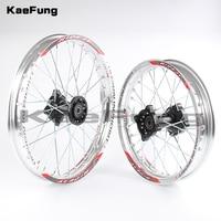 Silver 12mm 15mm Front 1.40 14 inch Rear 1.85 12 inch aluminium Alloy Wheel Rim For 160cc 150CC Dirt Pit bike 12 14 inch wheel