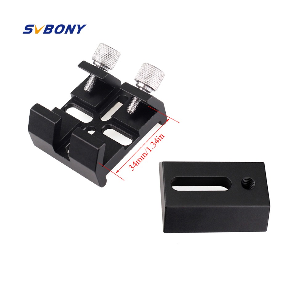 Svbony Small Finderscope Dovetail Plate + Multi Function Dovetail Slots For Optical Astronomy Telescope Finderscope W2370Svbony Small Finderscope Dovetail Plate + Multi Function Dovetail Slots For Optical Astronomy Telescope Finderscope W2370
