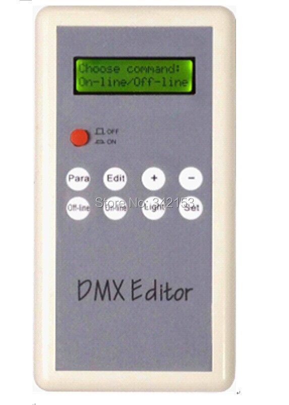 DC 4.5V 0.5W Handle Portable DMX Editor For LED Controller LED Light Strip Led DMX Editor Controller setting Module Address Code dmx512 digital display 24ch dmx address controller dc5v 24v each ch max 3a 8 groups rgb controller