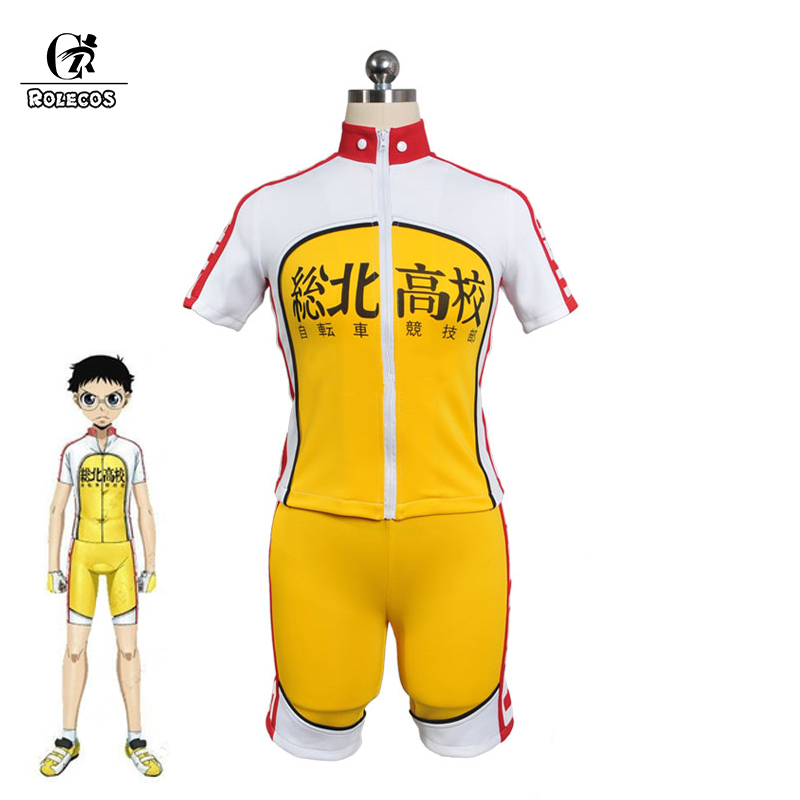 8e9b04fab Rolecos Anime Yowamushi Pedal Cosplay Costume Onoda Sakamichi Cosplay  Costume Cycling Jersey Bicycle Wear Full Set -in Anime Costumes from Novelty    Special ...