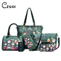 6pcs/lot Women Handbags Shoulder Bags Set Female Leather PU Composite Bag High Quality Super Practical Women Bag Sac a main