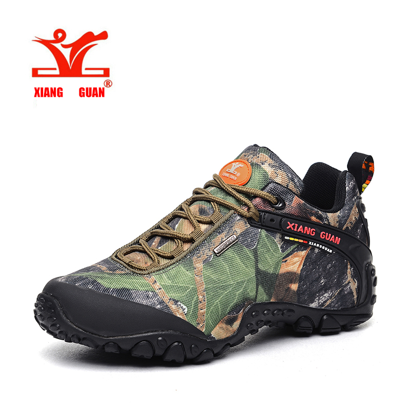 8975bd03a4918 XIANGGUAN Waterproof Hiking Shoes Men Camo Climbing Sneaker Women Camouflage  Boot Plus Big Size Euro 46 47 48 Us 12 13 14 15-in Hiking Shoes from Sports  ...