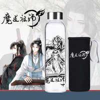 1Pc Anime Die Gründer von Diabolism Mo Dao Zu Shi Glas Tasse Cartoon Charakter Wei Wuxian Wasser Tasse Flasche