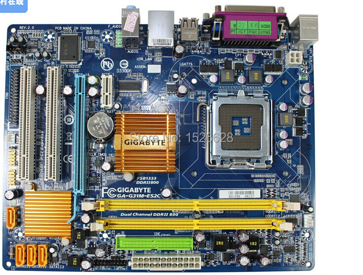 Original Motherboard For Gigabyte GA-G31M-ES2C G31M DDR2 LGA775 Solid-state Integrated Free Shipping