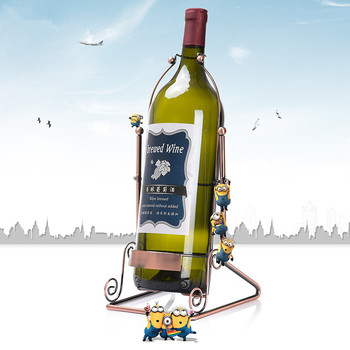 Originality Portable European Electroplate Large Size Iron Red Wine Bottle Rack Wine Rack Bronze Bar Decorate